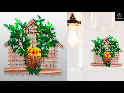 How to make bird nest craft with empty plastic bottle | DIY | Easy crafts Ideas | Taniscreativity