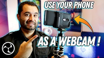 Use your PHONE as a WEBCAM in OBS! // NDI // Tutorial