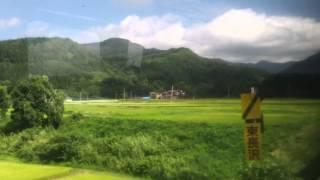 陸羽東線4732Dキハ111-214 新庄→最上左側車窓