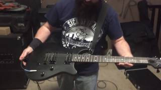 Ty Hardleben (ONPOINT) and his Allen Eden Stealth guitar