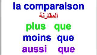 تعلم اللغة الفرنسية للاطفال والمبتدئين : درس  المقارنة (1)  la comparaison/ le comparatif مع امثلة