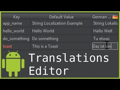 Localizing String Resources / Translations Editor - Android Studio Tutorial