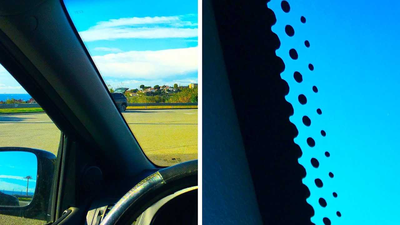 Зачем нужны черные точки на автомобильном стекле