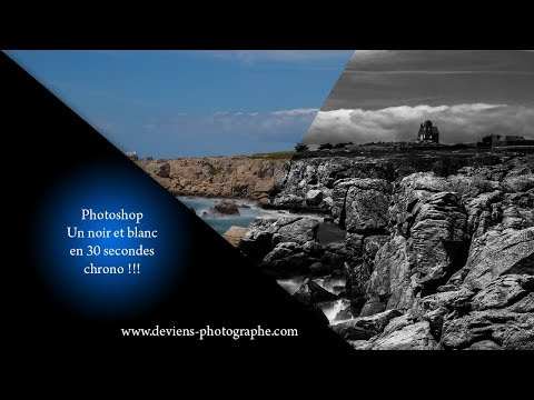 Tuto Photoshop - noir et blanc en 30 secondes chrono - S06E01