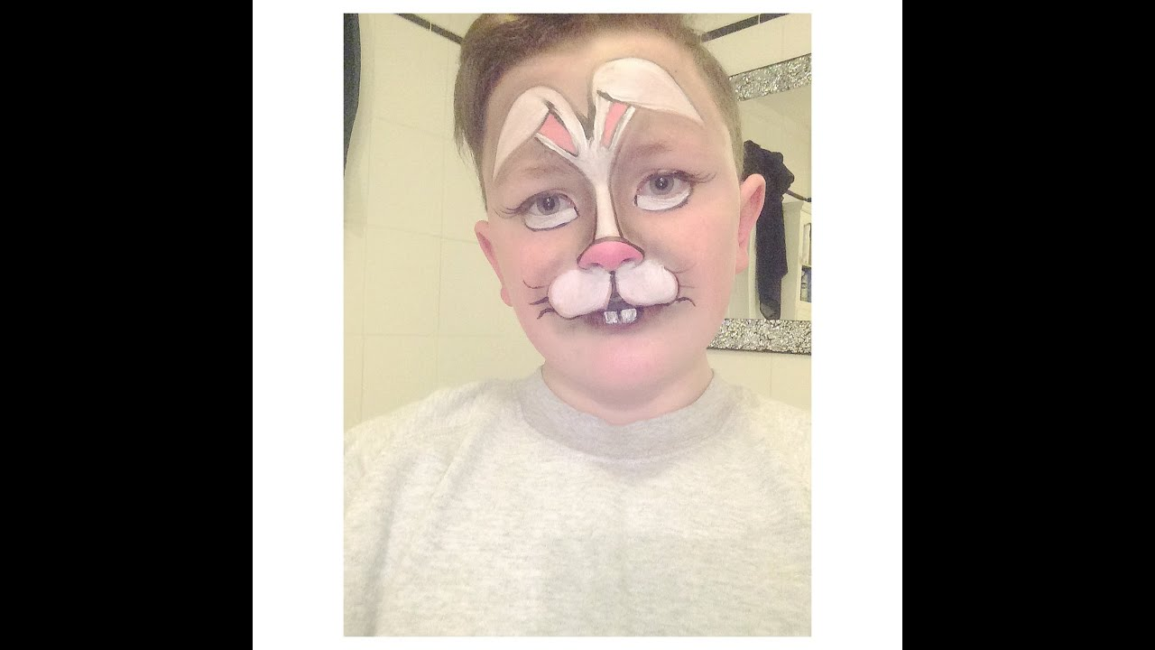 Easter Bunny Facepaint Makeup Tutorial YouTube
