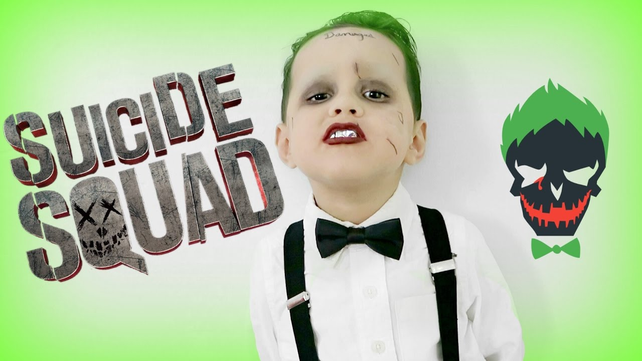 suicide squad joker makeup tutorial youtube - Joker Halloween Costume Kids