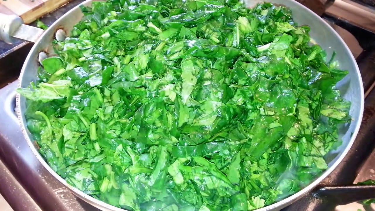 Spinach Fry Fresh spinach Bengali style stir cooking food kolkata