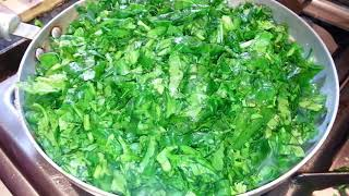 Spinach Fry - Fresh Spinach Bengali Style