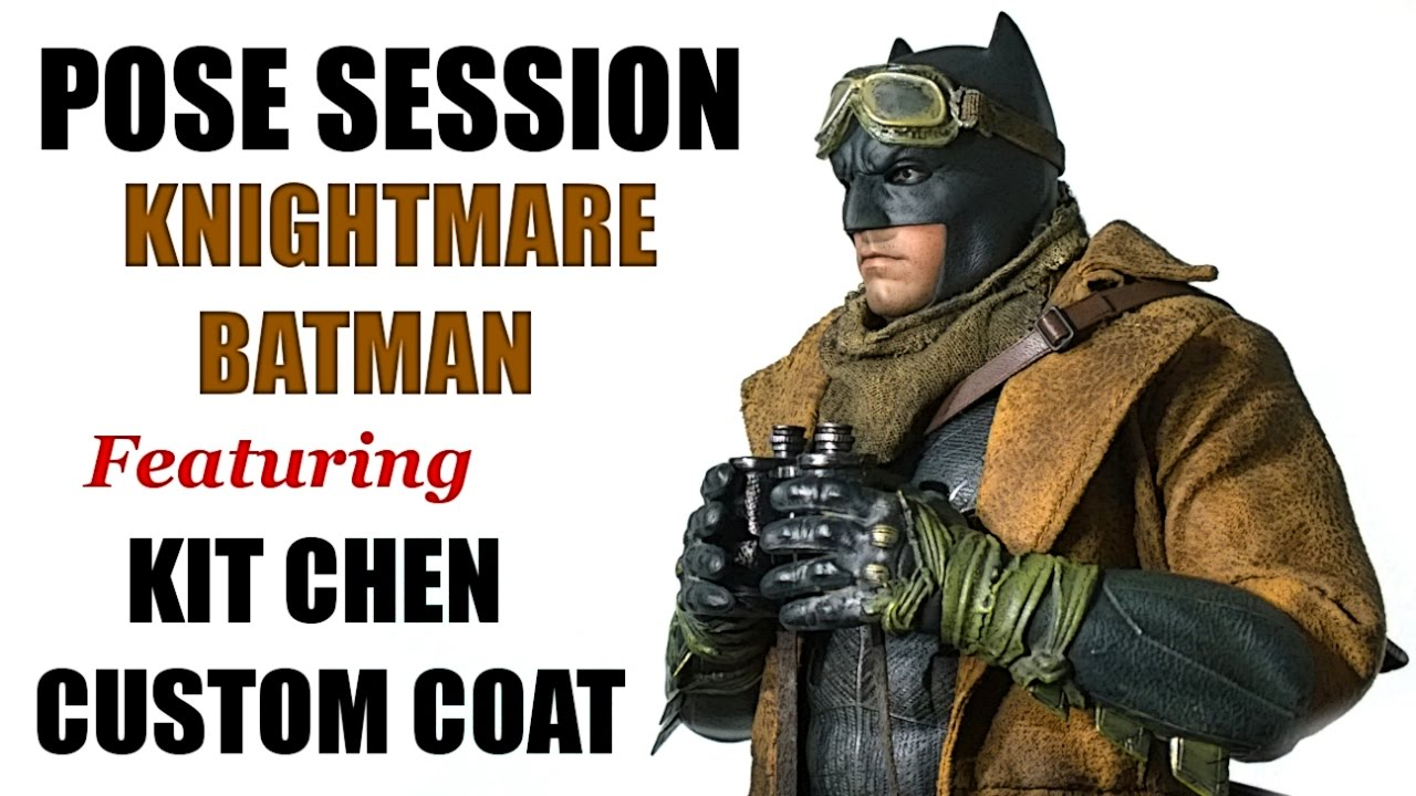 osw.zone toys Knightmare Batman Pose session with the new Kit Chen custom coat. Link to ...