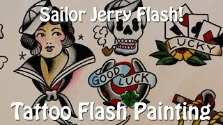 Sailor Jerry Flash! - Tattoo Flash Painting