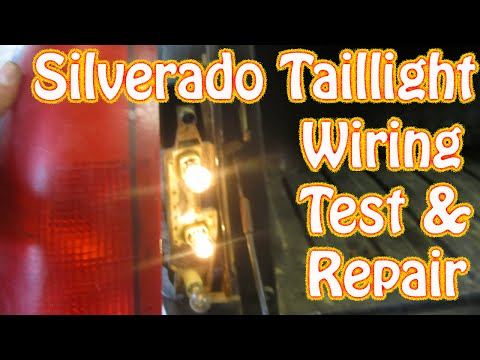 diy chevy silverado gmc sierra taillight repair how to test and repair tail  lamp wiring brake light - youtube  youtube