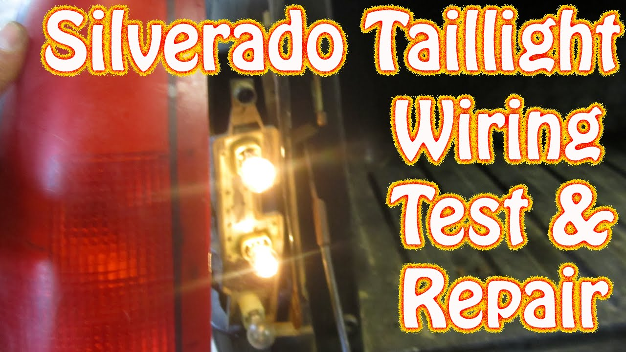 diy chevy silverado gmc sierra taillight repair how to test and repair tail  lamp wiring brake light