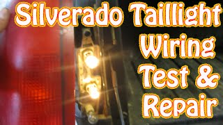 DIY Chevy Silverado GMC Sierra Taillight Repair How to Test and Repair Tail  Lamp Wiring Brake Light - YouTubeYouTube