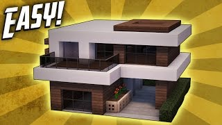 Minecraft: How To Build A Small Modern House Tutorial (#17)