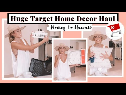 Huge Target Home Decor Haul | Moving To Hawaii