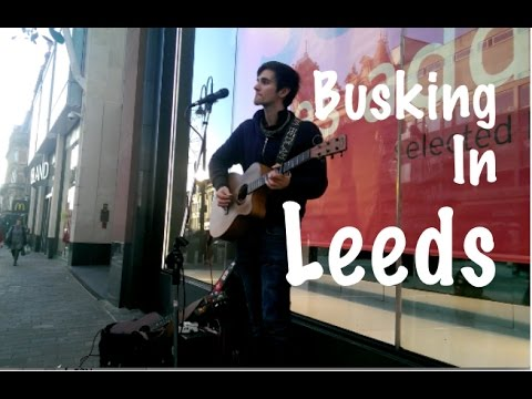Busking In Leeds - Simon and Garfunkel - Sound Of Silence Cover