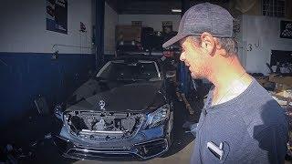 Ремонт Мерседеса за 12 МЛН РУБ в гараже своими руками. Аукцион битых машин в США.