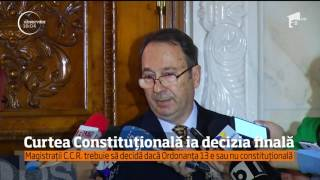 Magistraţii C.C.R. trebuie să decidă dacă Ordonanţa 13 e sau nu constituţională