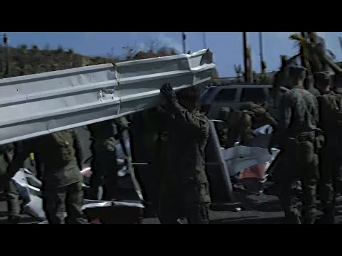 Raw: US Military Bringing Aid to Virgin Islands
