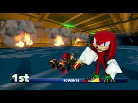 Sonic & All-Stars Racing Transformed (PS3) Knuckles In Arcade Cup (Expert)