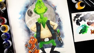 The Grinch Who Stole The Death Star: Grinch Star Wars Mashup!