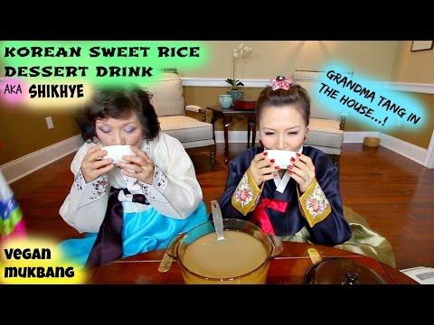 KOREAN SWEET RICE DRINK aka SHIKHYE • Mukbang & Recipe