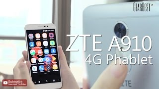 ZTE A910 4G Phablet Hands-on Video - Gearbest.com