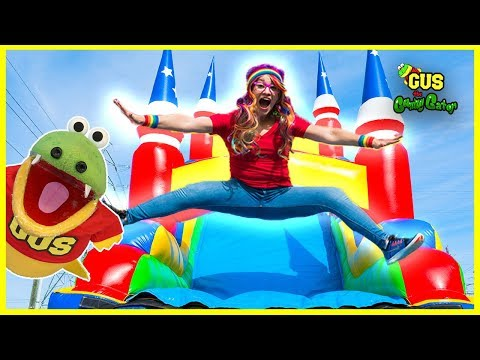 Giant Bounce House Outdoor Playground with Surprise Toys