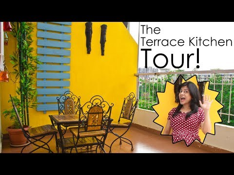 The Terrace Kitchen Tour | DIY Kitchen in Terrace ~ The Terrace Kitchen
