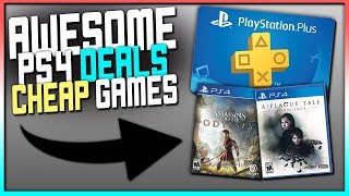 AWESOME PS4 DEALS - SUPER CHEAP 1 YEAR PS+, GAMES + MORE!