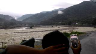Flood in Bhutan ,Sarpang market vanished by heavy water flow in 2016