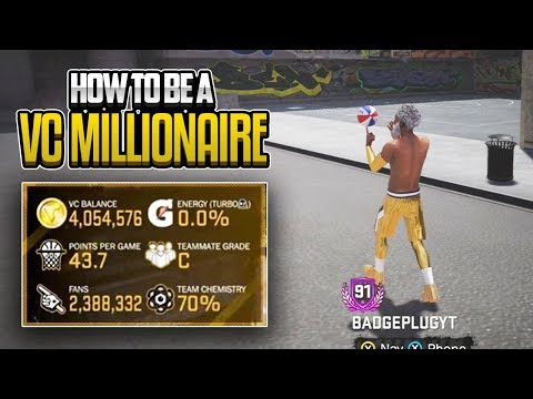How To Be A VC Millionaire In NBA 2K18!