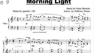 """Morning Light"" Piano Sheet Music by Sean Beeson - Relaxing, Calm Piano Music"