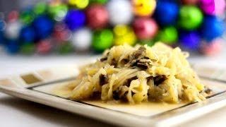 Cabbage With Mushrooms - Kapusta Z Grzybami -  Polish Christmas Recipe #118