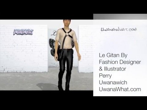 Le Gitan by Perry Uwanawich, 3D Fashion Show Marvelous Designer