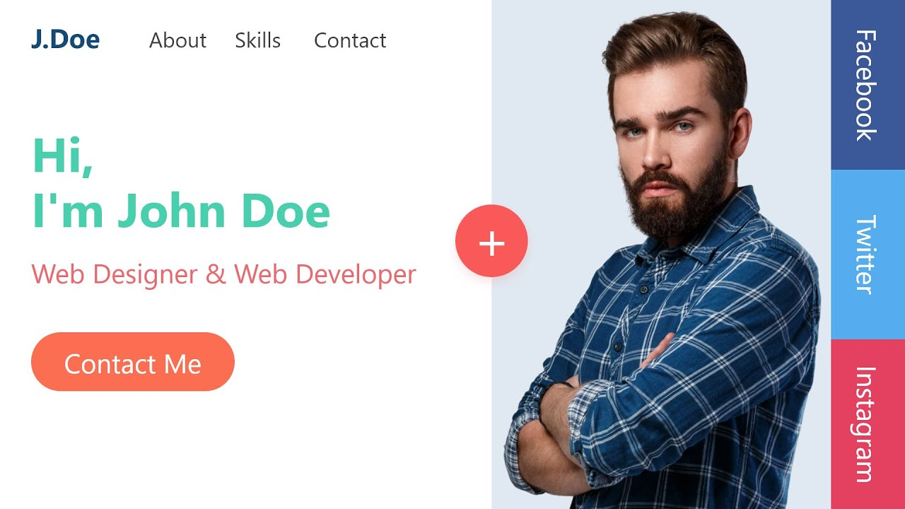 Personal Portfolio Website Design Using Html Css And Javascript