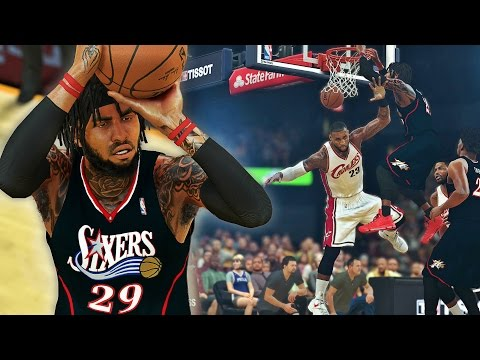 NBA 2K17 MyCAREER SH - Dethrone The King! 2 CONTACT DUNKS ON LBJ!!