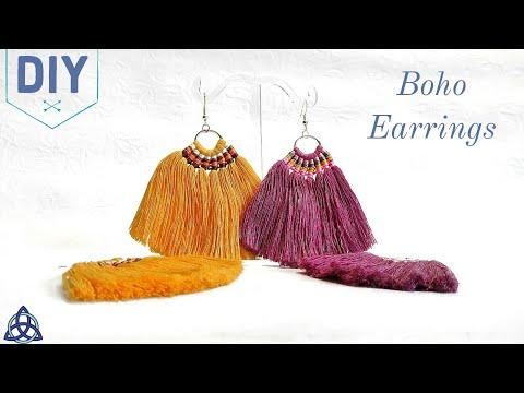 Macrame Tassel Earrings DIY | Boho Jewellery Making