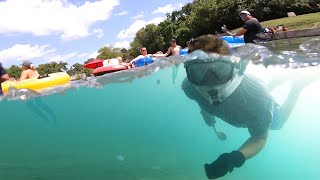 Finding Lost Treasures Underwater as People Drop Them! (Busy Day of Tubing)