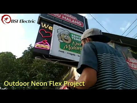 Outdoor Neon Flex Project For Lapis Kukus Tugu Malang Denpasar Bali Youtube