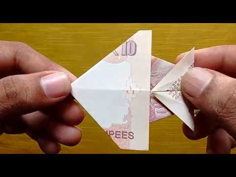 How To Make Fish With 10 Rupees Note Origami Craft Suryacraft