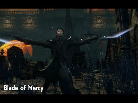 bloodborne blade of mercy move set showcase youtube
