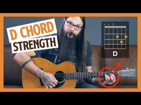 FUN D Chord Strength Exercise [beginner guitar lesson]