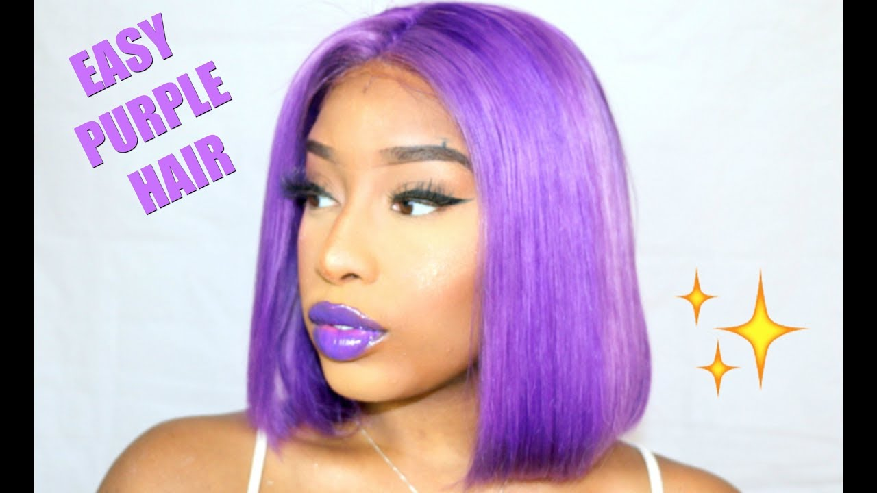 Colorweek The Easiest Way To Get Bright Purple Hair Ft