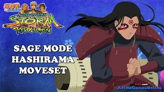 Sage Mode Hashirama with Thousand Hands Awakening Moveset  - Naruto Storm Revolution