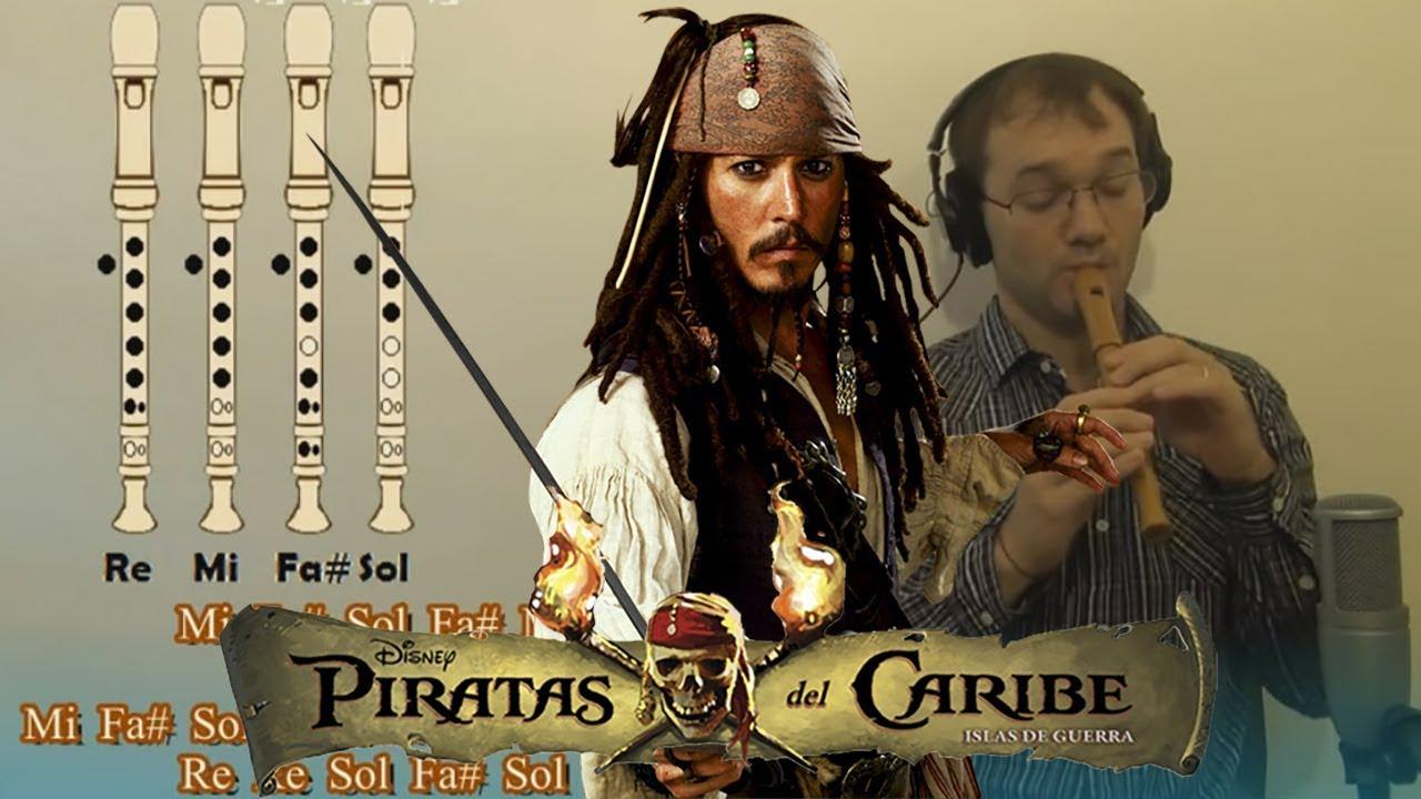 Piratas del caribe en Flauta Dulce. Con todas las notas explicadas para aprenderla!!!