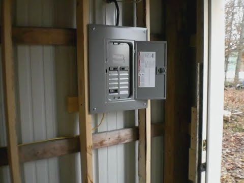 hqdefault running electric service out to my pole barn youtube wiring a barn diagram at gsmx.co