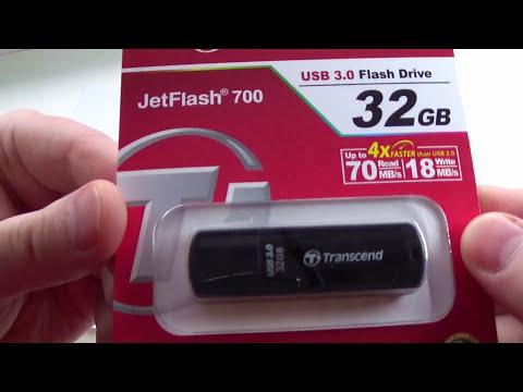 Флэш-накопитель память Transcend JetFlash 700 32GB (TS32GJF700)