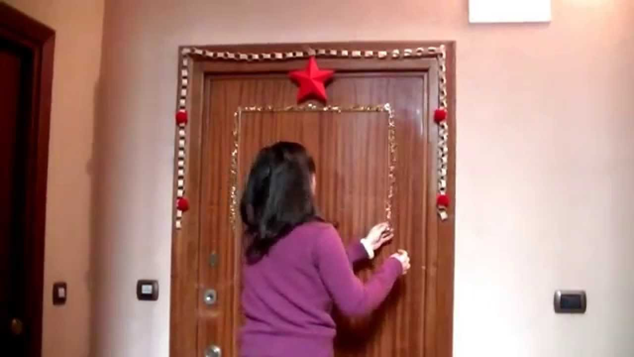 Decorazioni Natalizie Per Portoni.Rubrica Natale Cosa C E Sulla Mia Porta A Natale Youtube