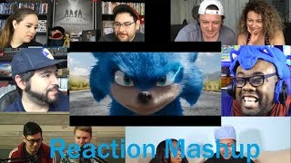 Sonic the Hedgehog Trailer #1 REACTION MASHUP